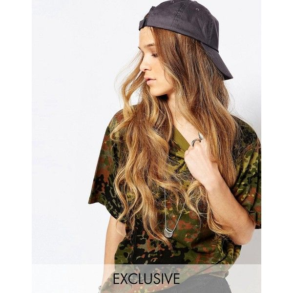 Reclaimed Vintage Cotton Baseball Cap ($25) ❤ liked on Polyvore featuring accessories, hair, hats, grey and reclaimed vintage