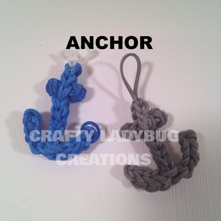 Anchor Charm How to Make and DIY Rainbow Loom Crafty Ladybug