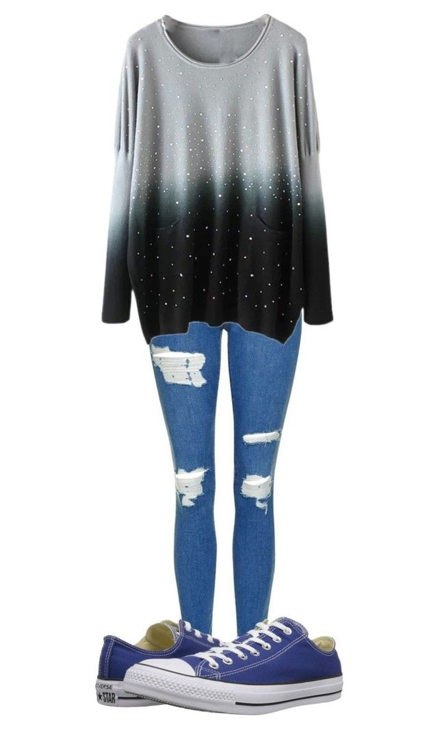 """""""Outfit"""" by chloeogrady1 on Polyvore featuring Topshop and Converse"""