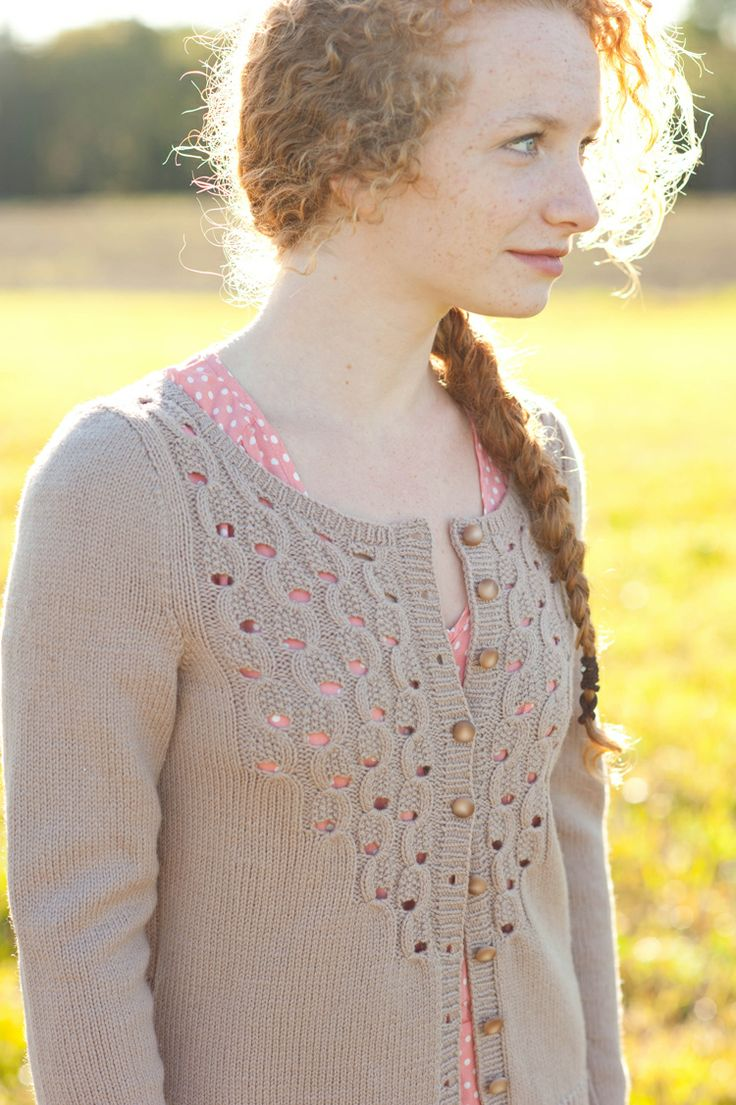 Circles + Dots collection by Olga Buraya-Kefelian and Quince & Co. | Effervescence cardigan