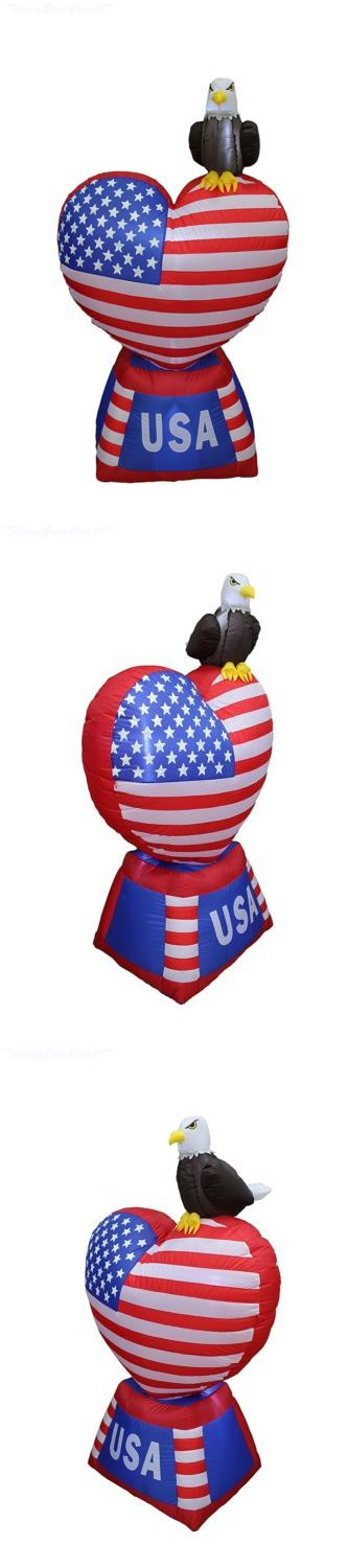 July 4th and Summer 170095: Patriotic Inflatable Heart Independence Day 4Th Of July Flag Home Yard Decor New -> BUY IT NOW ONLY: $91.74 on eBay!