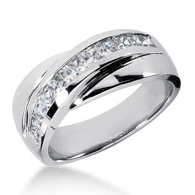 Platinum Mens Wedding Band He Loves His Bling After The Wedding Pinterest Wedding Diamond Wedding Bands And Wedding Bands