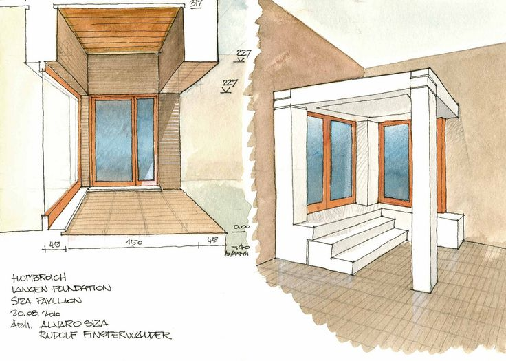 Hombroich, Istituto di Architettura (Padiglione Siza) 2008-2010 - dibujo de Fabio Colonnese