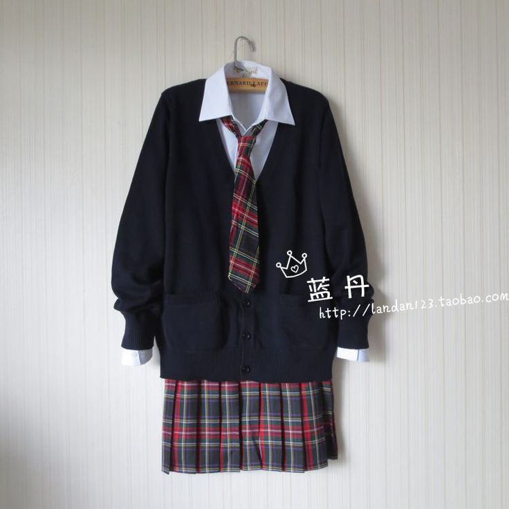 Cheap uniform clogs, Buy Quality uniform animation directly from China sweater spike Suppliers: { Shut   in   the  } white  shirt sweater beige skirt red  shirt blouse chest pocket  no