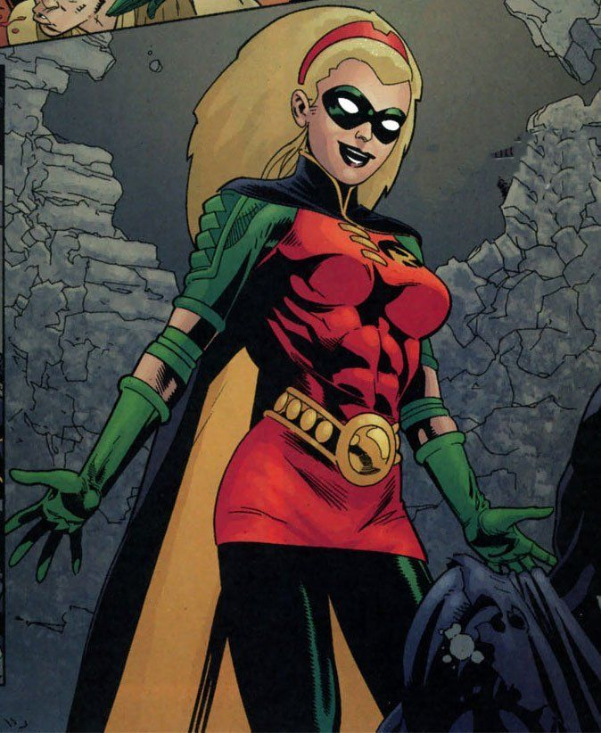 Stephanie Brown, perhaps (in my opinion) the least known Robin. Better known as one of those who took the moniker of Batgirl, or as the Spoiler. Más