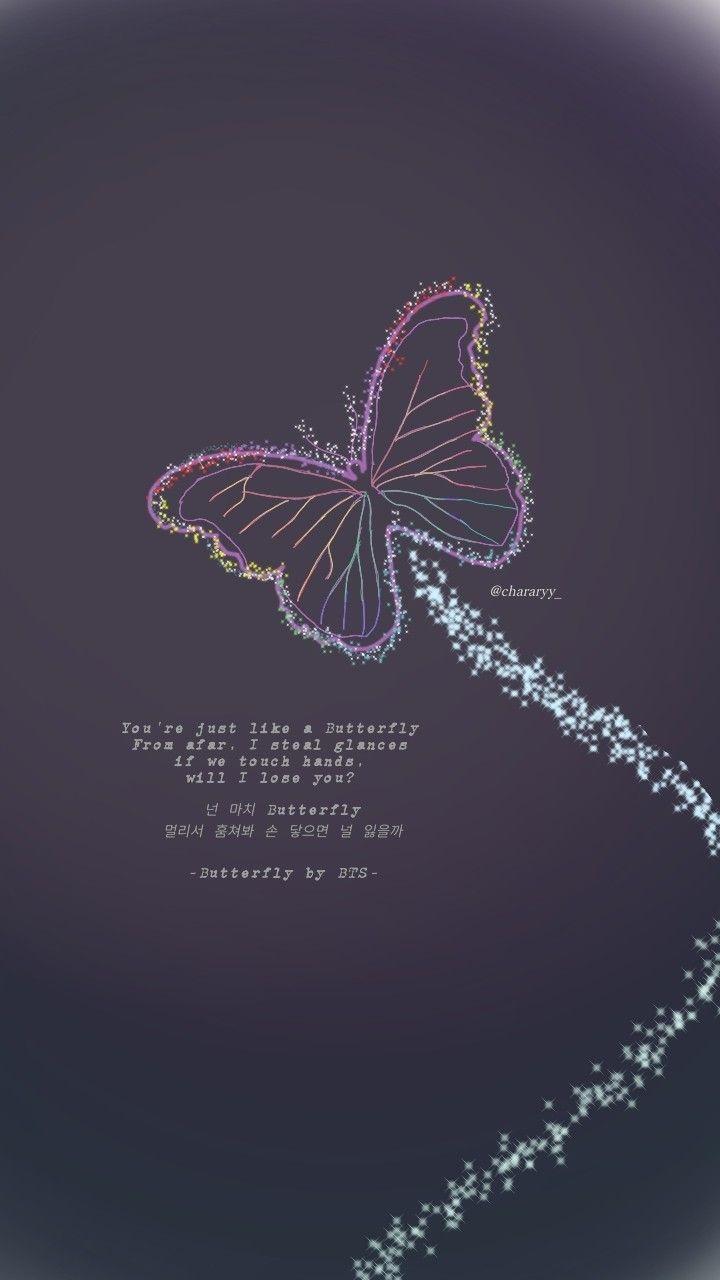 butterfly bts song fanart chararyy bts lyric album bts bts