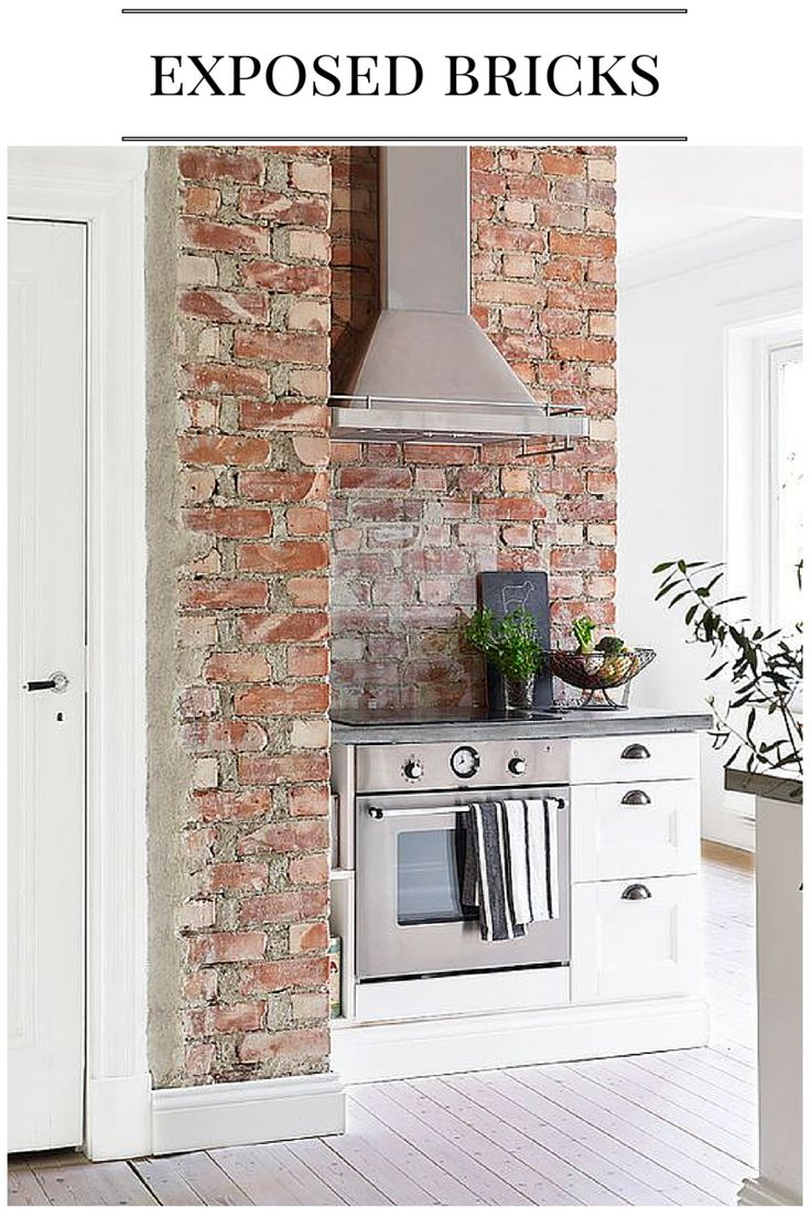Kitchen splash back ideas exposed brick wall kitchen for Exposed brick wall kitchen ideas