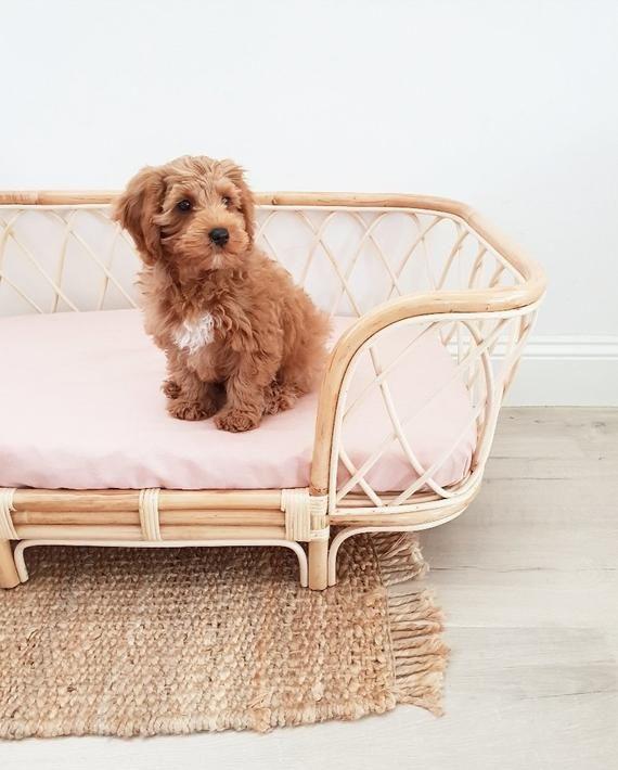 Handmade Dog Bed Small Dog Basket Woven Dog Bed, Handmade Puppy Bed Easter Dog Bed Furniture Custom Dog Bed Dog Bed Large Dog Bed