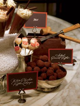 This Bon Bon Lounge, opening after the main meal, puts the cha-cha in chocolate. Guests can sip demi-sec champagne like Pol Roger Rich NV—its sweetness pairs well with dessert—then take a hammer and chisel to the block of seriously dark chocolate.
