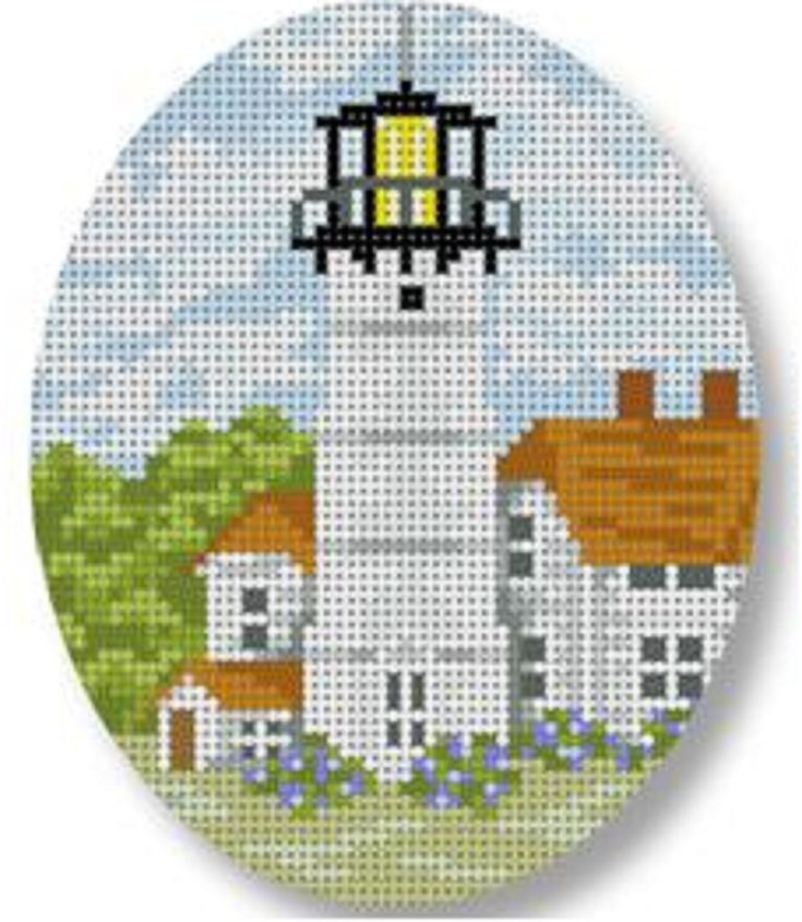 NEEDLEPOINT HANDPAINTED STARKE ART CHRISTMAS CHATHAM LIGHTHOUSE!! Here it is!! Brand New! Get right to work on this gorgeous 18 mesh design. PRODUCT DETAILS: - 18 Mesh Canvas - Size is 3.5 x 4.25 inch