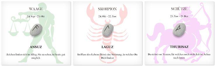 Runen Tageshoroskop 15.4.2017 #Sternzeichen #Runen #Horoskope #waage #skorpion #schütze