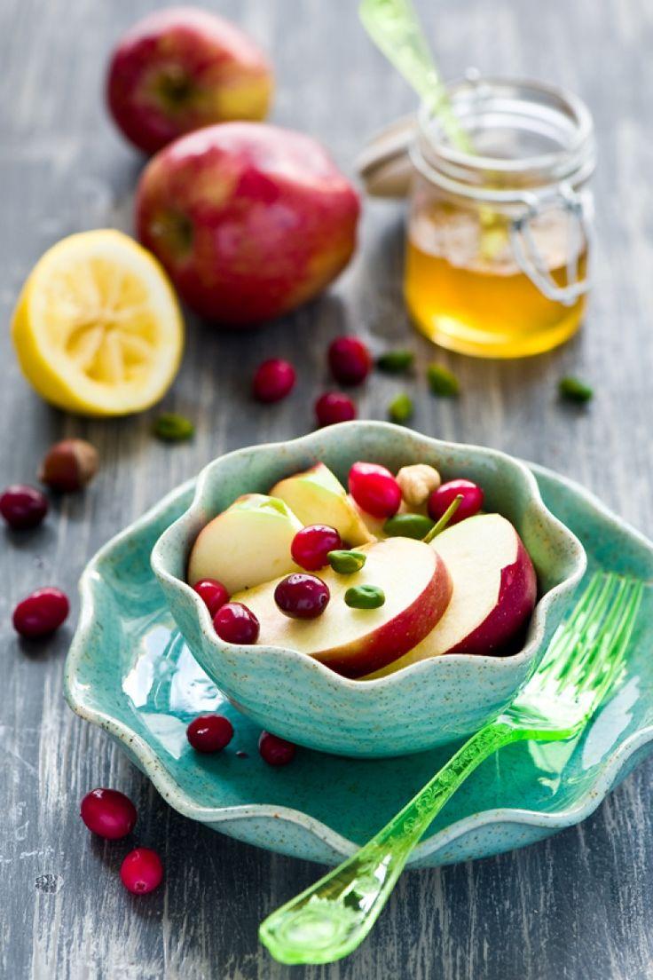 Macedonia invernale ricetta, macedonia alcolica, mele pere cranberry