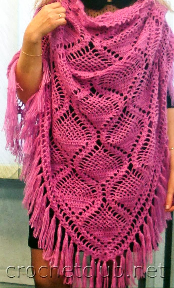 TRICO y CROCHET-madona-mía: Chal a crochet con patrón