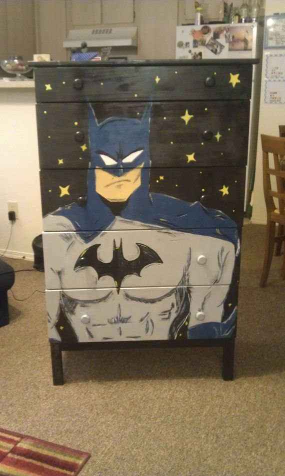 What a terrific idea -- Carry out your décor with a custom-painted dresser! Available from Piercing Silence on Etsy.