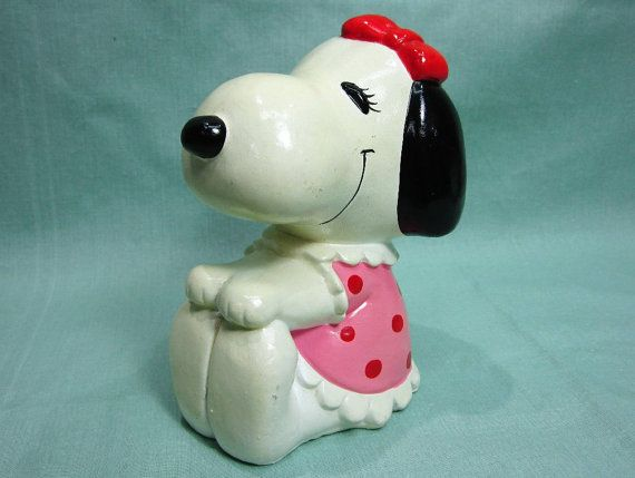 Peanuts Snoopy's Girlfriend Belle Bank by COBAYLEY on Etsy, $30.00