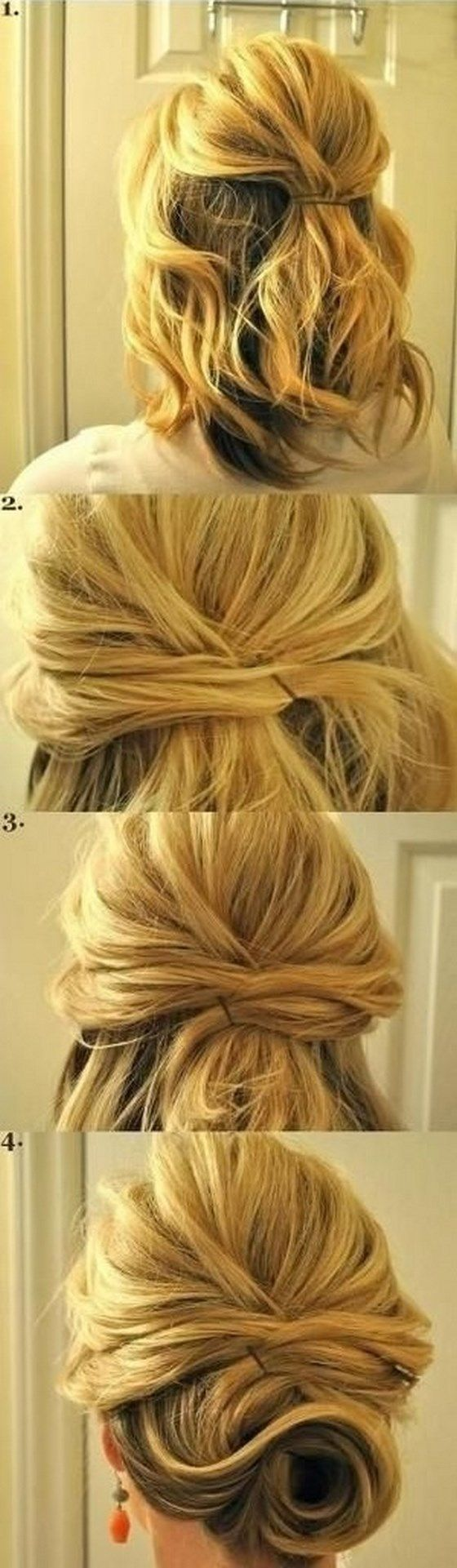 Easy party Hairstyles step by step - Peinados para Fiestas fáciles paso a paso