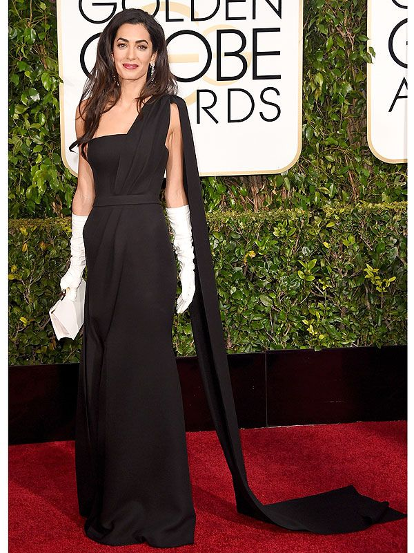 Golden Globes 2015: Amal Clooney Wears White Gloves That She Sewed Herself http://stylenews.peoplestylewatch.com/2015/01/11/amal-clooney-white-gloves-golden-globes-2015-style/