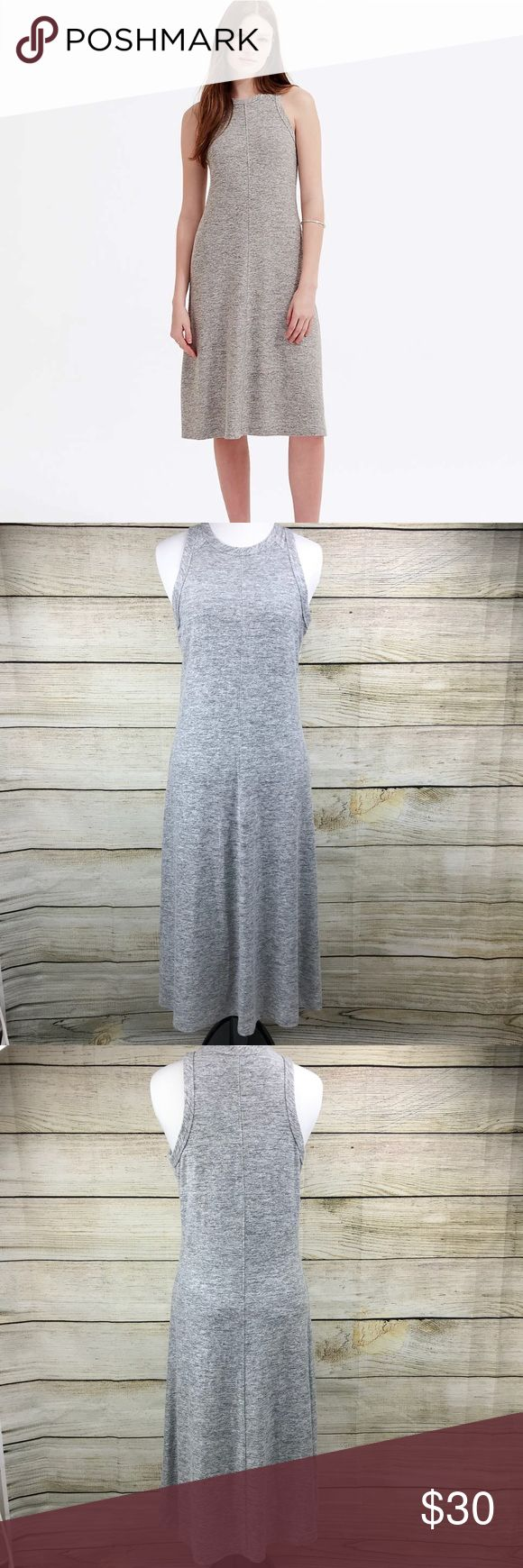 Lou & Grey Slinky Racerback Midi Dress In like new condition. Size small. Heathered gray. Lou and Grey. Midi dress. Racerback. Round neck. Sleeveless. Slinky Racerback. Super comfy fabric. 44 inches long. Lou & Grey Dresses Midi