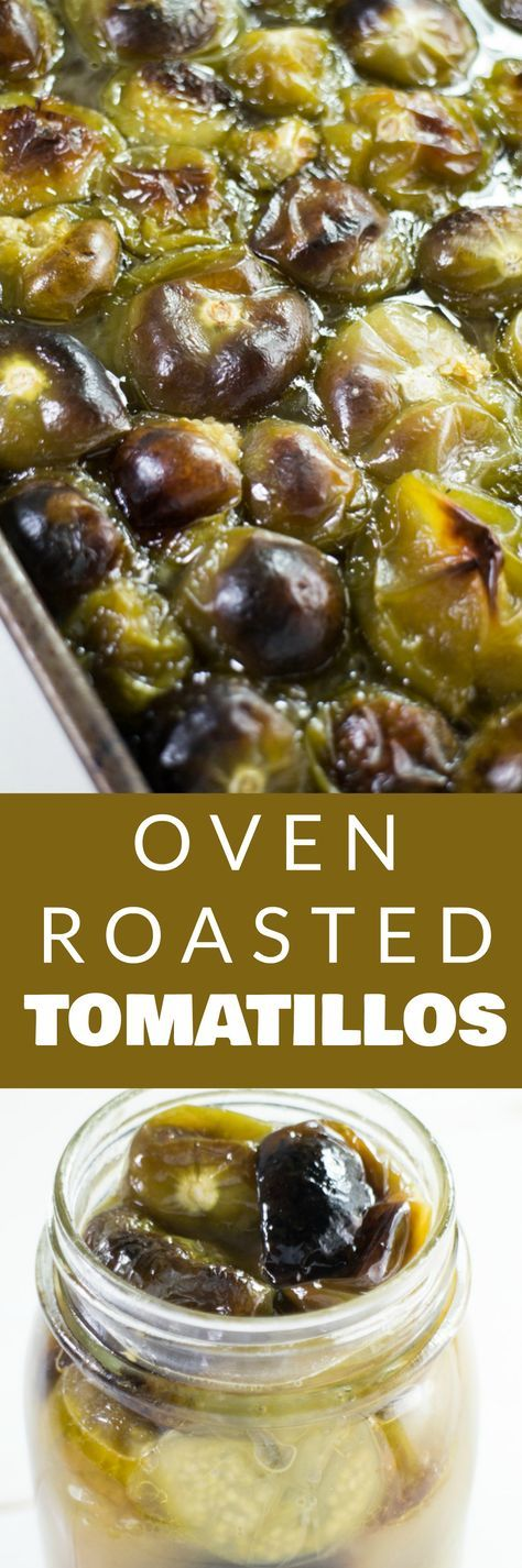 EASY, OVEN ROASTED Tomatillos Recipe! This tomatillo sauce is DELICIOUS and can be used as a soup stock, chicken tacos salsa, served over rice and so much more! This recipe is canning and freezing friendly, perfect for preserving a overabundance of garden tomatillo plants!