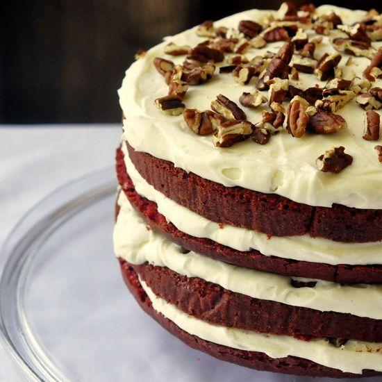 Red Velvet Cake: Toast Pecans, Cream Cheese Frostings, Red Velvet Recipes, Double Cream, Trifles, Rocks Recipes, Cakes Recipes, Chee Frostings, Red Velvet Cakes