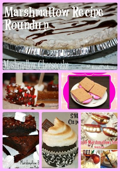 Lots of yummy Marshmallow Recipes http://madamedeals.com/marshmallow-recipes-roundup/ #inspireothers