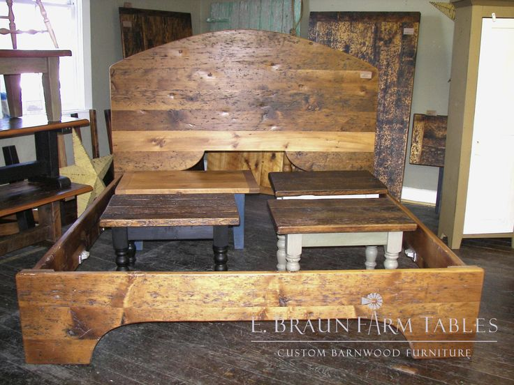 Reclaimed Barn Wood Bed   King Sized; We Custom Make Furniture For All Rooms