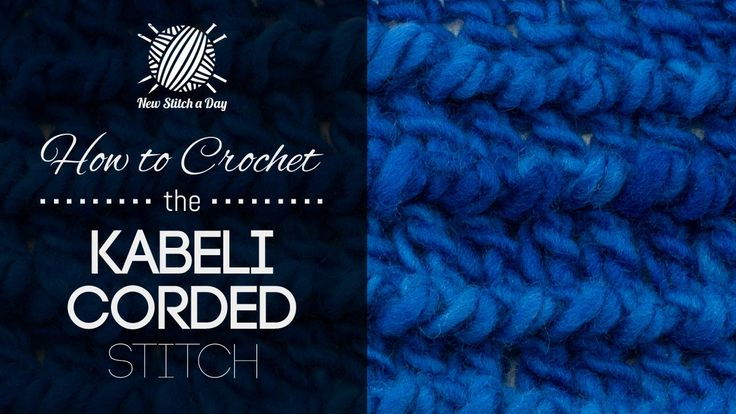 How to Crochet the Kabeli Corded Stitch
