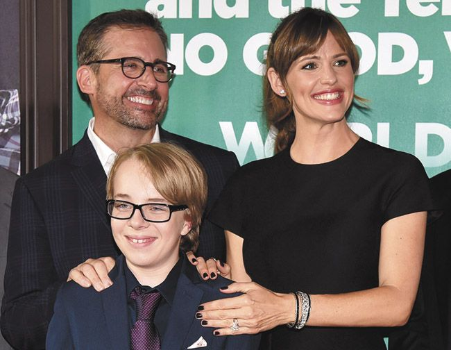 13-year-old Ed Oxenbould (front) stars with Steve Carell and Jennifer Garner in Alexander and the Terrible, Horrible, No Good, Very Bad Day. (Sun Media News Services)