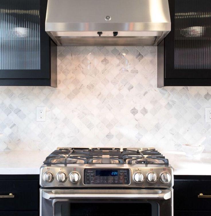 Marble Backsplash White Kitchen