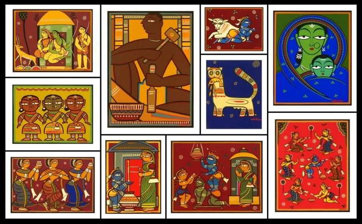 jamini roy paintings - Google Search