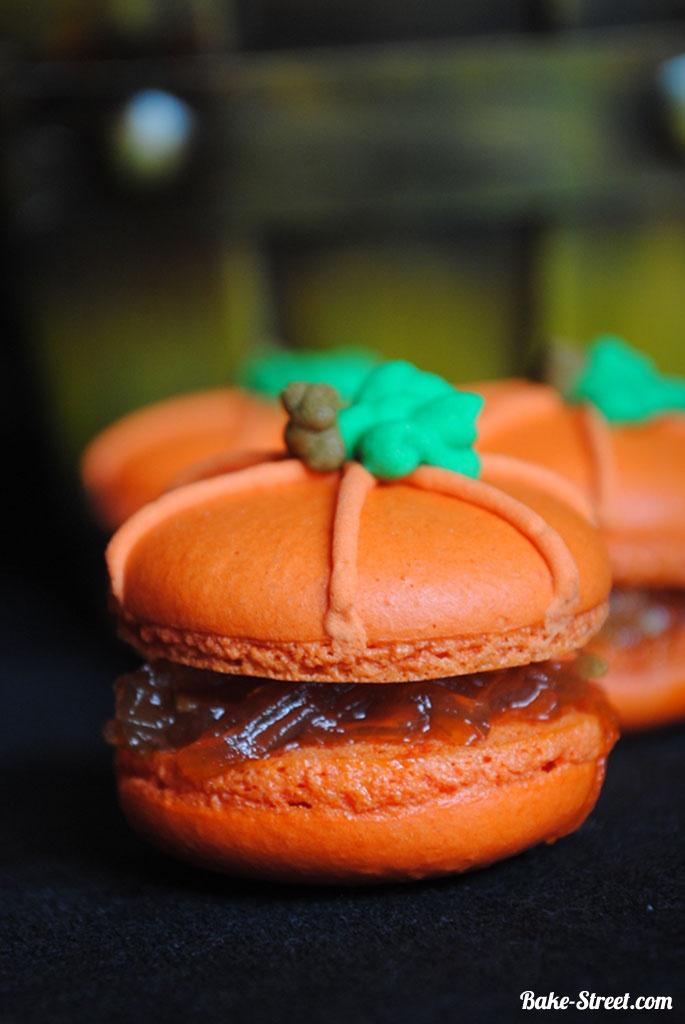 Pumpkins macaron with angel hair - Calabazas de macaron con cabello de angel