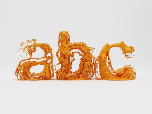Experimental fluid type by Hussain Almossawi: Art, Typography