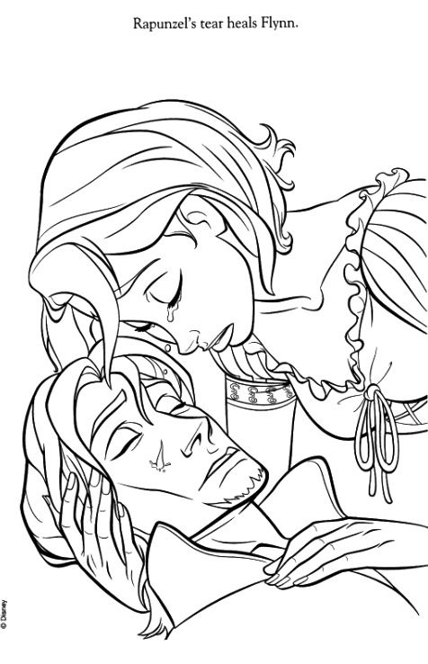 153 best Tangled Colouring Pages images on Pinterest  Disney