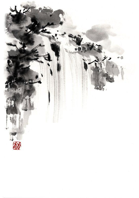 Sumi-e ink brush painting, 2011-2013