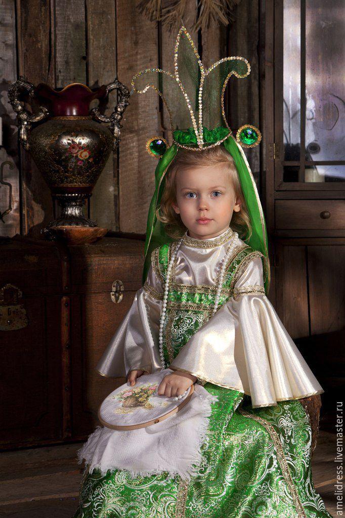 Купить Царевна -Лягушка - зеленый, орнамент, василиса прекрасная…