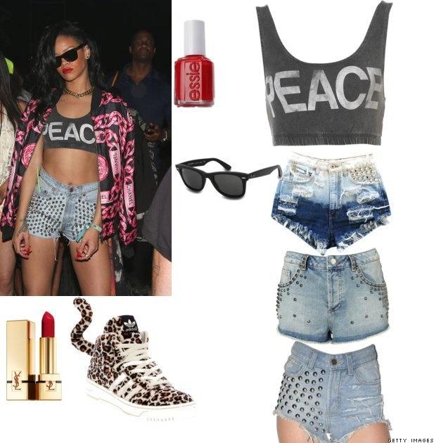 Get The Look: Rihanna at Coachella 2012