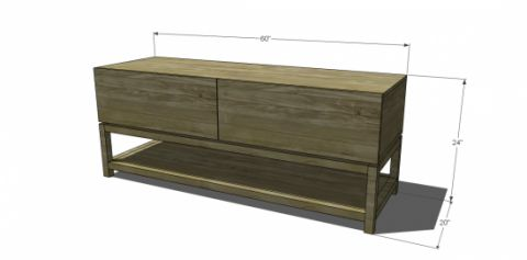 Free Flat Panel Tv Stand Plans WoodWorking Projects amp