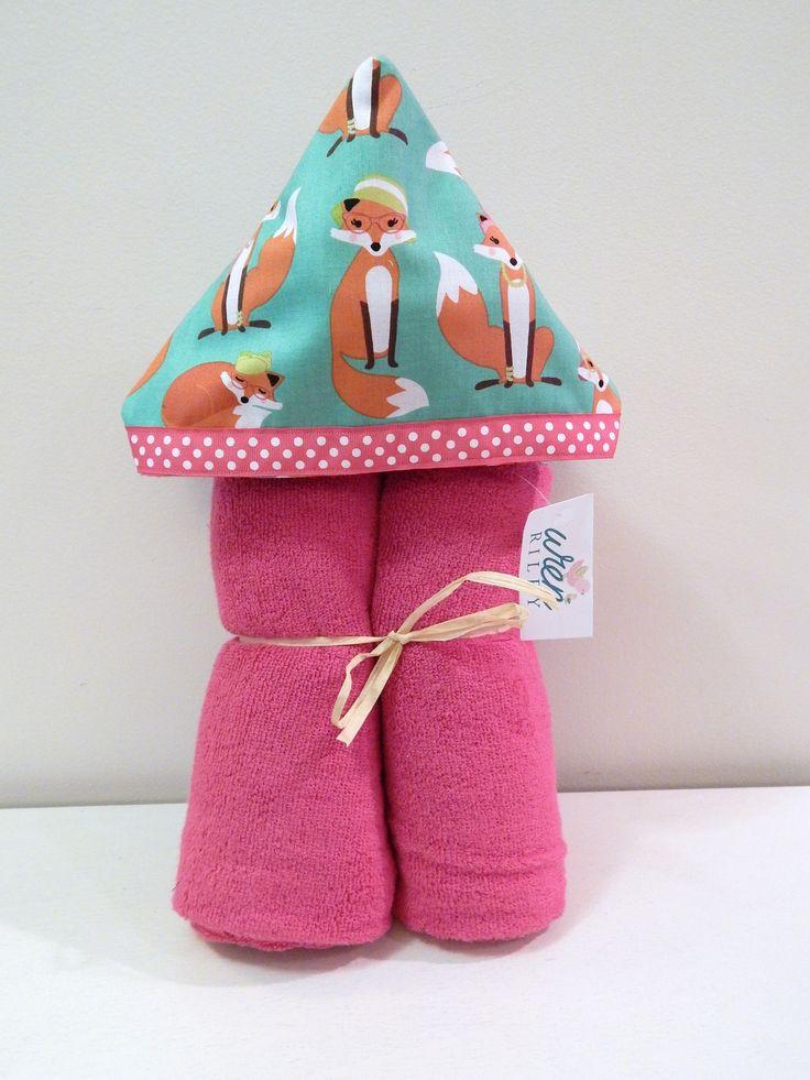Fabulous Fox in Glasses Hooded Towel