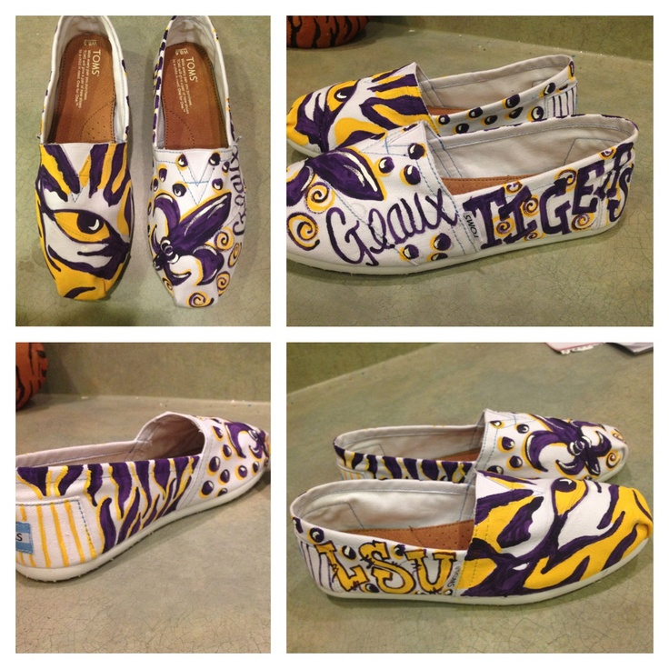 LSU TOMS hand painted