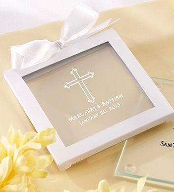 Personalized Baptism or First Holy Communion Favors - Custom Coasters