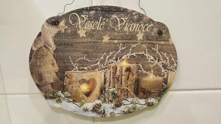 Vianocna tabulka na dvere  Rozmer 22x17 Cena 4,5€
