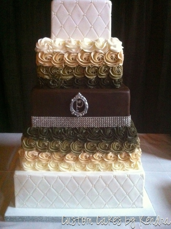 chocolate brown and gold wedding cakes 17 best images about champagne gold brown weddings on 12689