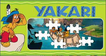 Puzzles, points à relier, 7 différences, nombre mystère, test de connaissances sur les animaux. Et tout cela avec un héros de la bd: Yakari.