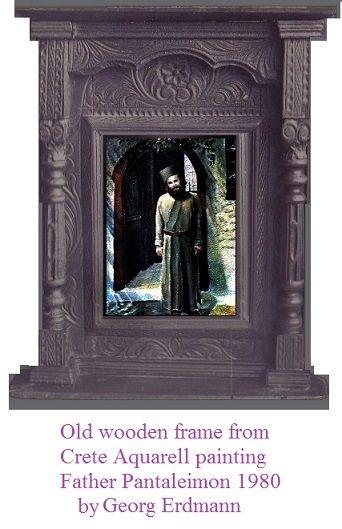 Iconframe from Crete & Watercolour - Greek Monastir