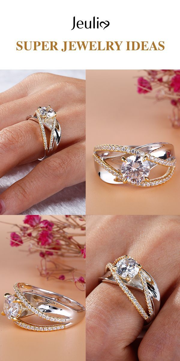 DIAMOND CROSSOVER BAGUE en argent sterling