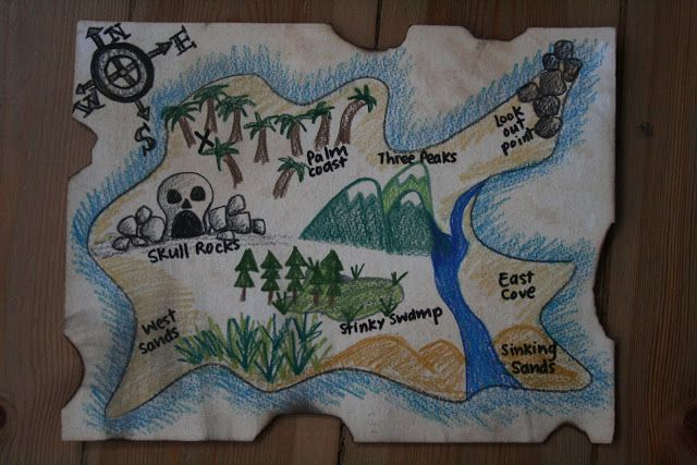 http://theimaginationtree.com/2011/06/diy-pirate-map-and-treasure-hunt-games.html