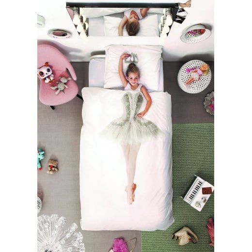 Snurk Ballerina Bedding Set Single Duvet Cover & Pillowcase