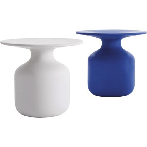 NYC SHOWROOM  Cappellini NY 152 WOOSTER STREET - ZIP NY11012 - NEW YORK Tel 12129660669 Cappellini - Mini Bottle Side Table (white, blue or black)