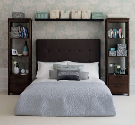 In love with home decoration — Skip the Traditional Bedside Table Instead of...