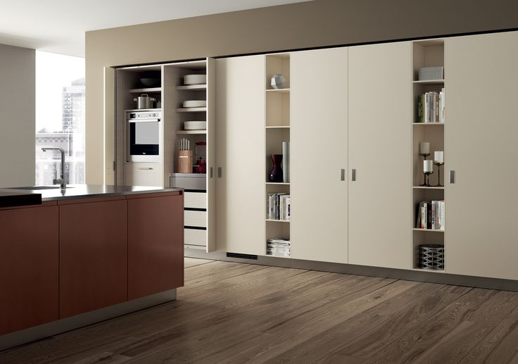 To organise the room rationally and offer an interesting decorative element for large settings, the pantry cupboard adds a functional and personal touch.
